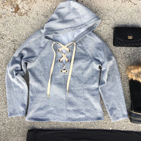 lexi lace up hoodie