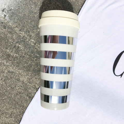 darling stripe travel mug
