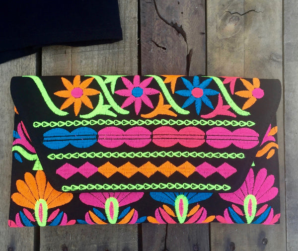 elise embroidered clutch