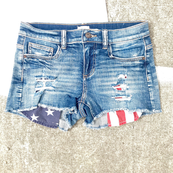stars and stripes jean shorts