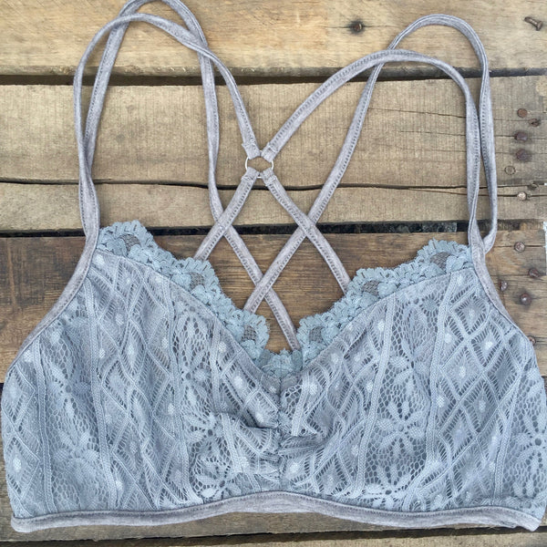 lace criss cross bralette