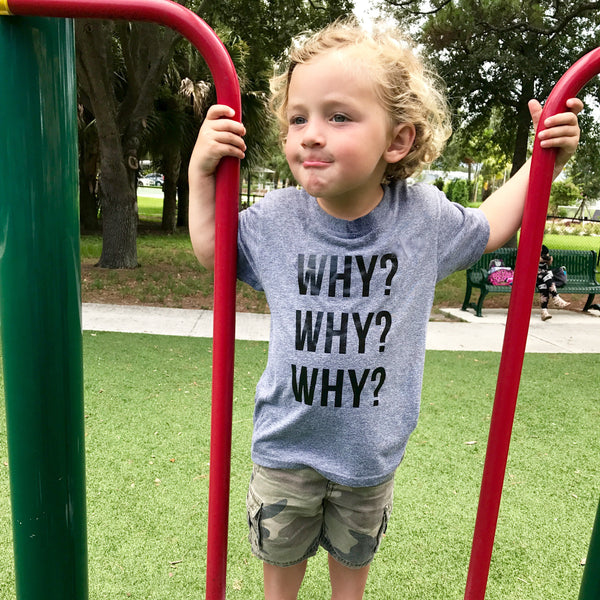 why? why? why? youth tee