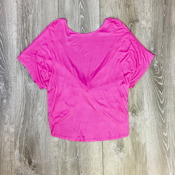 open back criss cross tee