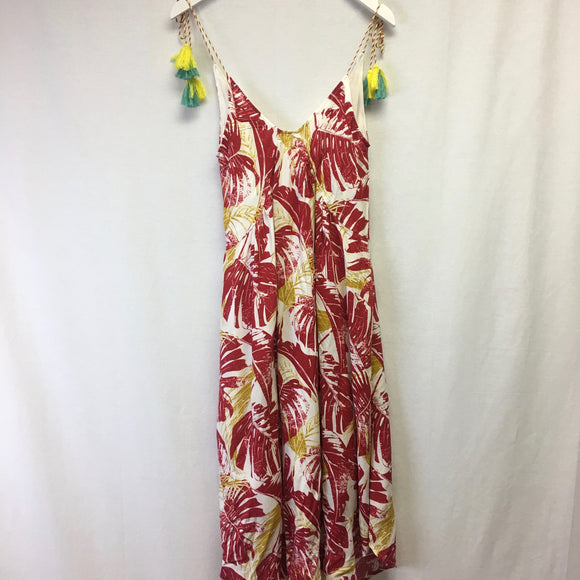 red palm frond dress
