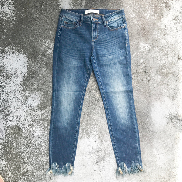 swift fringe flared jeans
