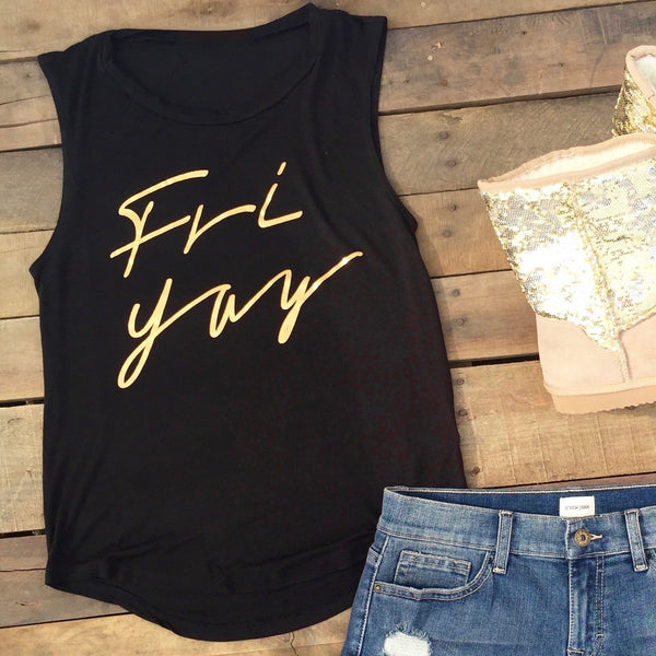 friyay muscle tank top