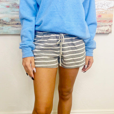 speckled striped shorts