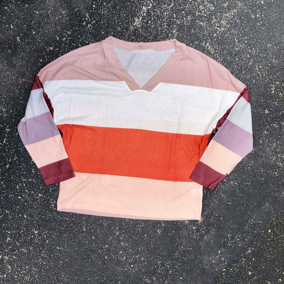 cider colorblock sweater