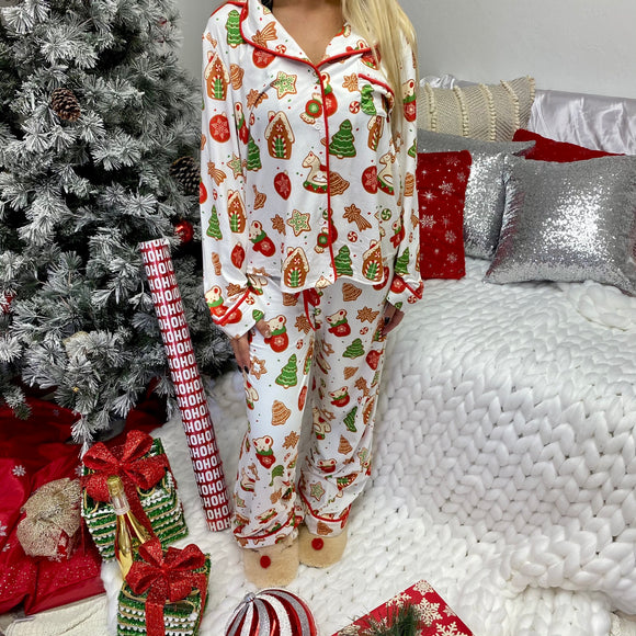 christmas cookie pajamas