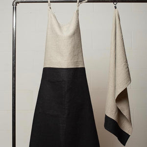Le Chef Tea Towel Natural w/ Black Border