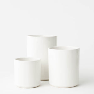White Glazed Minimal Vase