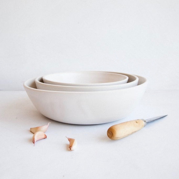 Snow Nesting Serving Bowls