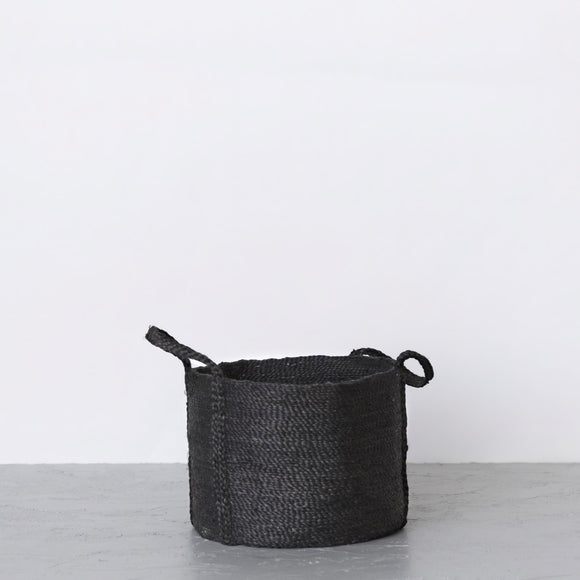 Round Just Basket w/ Handles Charcoal