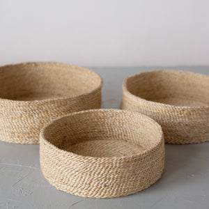 Round Jute Basket Natural