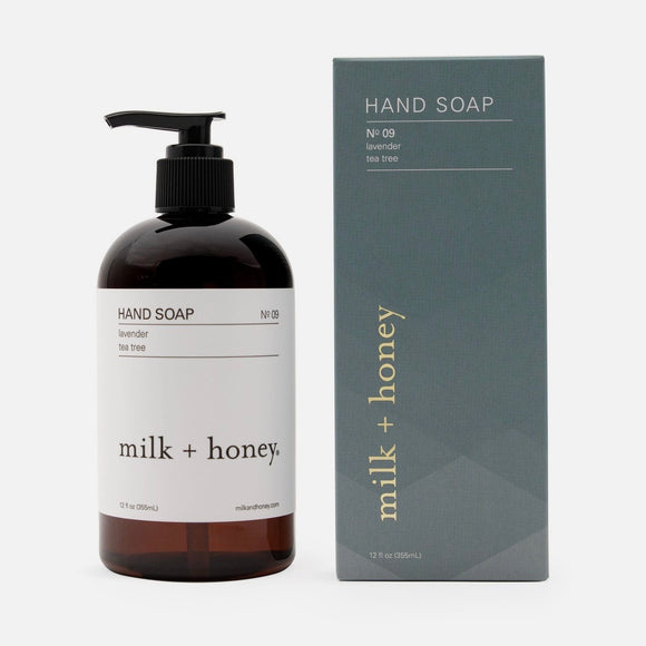 Milk + Honey Hand Soap, No. 09 Lavender & Tea Tree