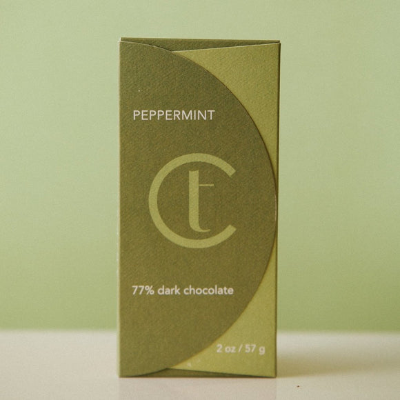 TC Peppermint 76% Dark Chocolate Bar