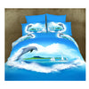 3D Queen King Size Bed Quilt/Duvet Sheet Cover Cotton reactive printing 4pcs  06 - Mega Save Wholesale & Retail