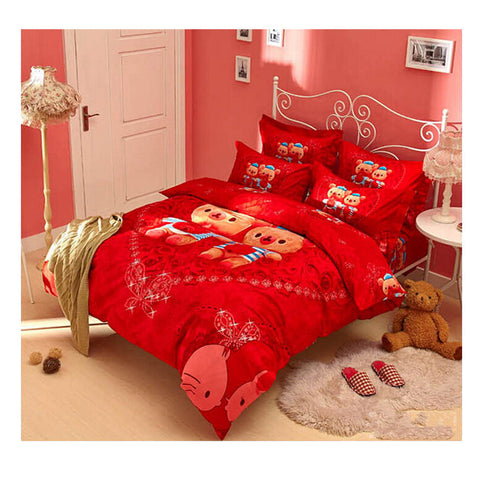 Cotton Active floral printing Quilt Duvet Sheet Cover Sets 1.5M/1.8M Size 01 - Mega Save Wholesale & Retail