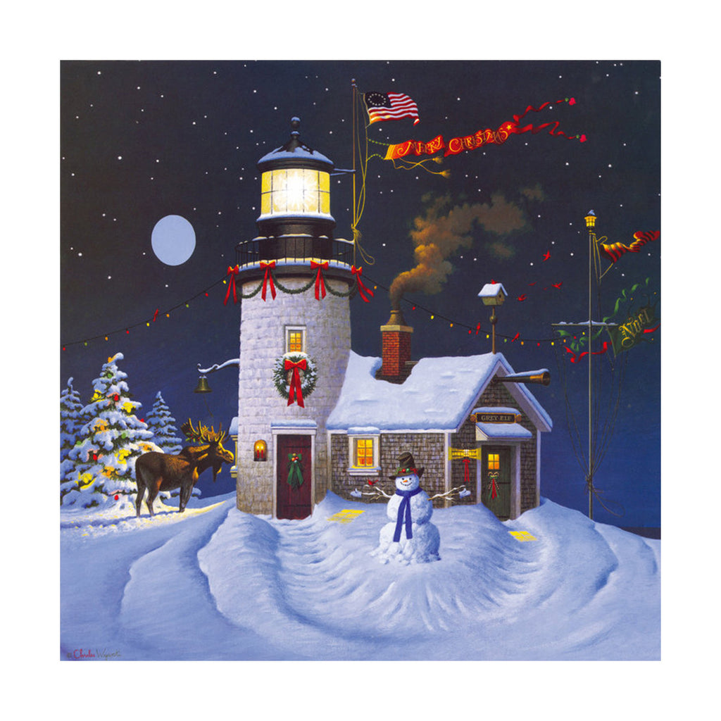 decoration painting bulk simple lighthouse American small town without frame cotton for painting wall painting 01 - Mega Save Wholesale & Retail - 1