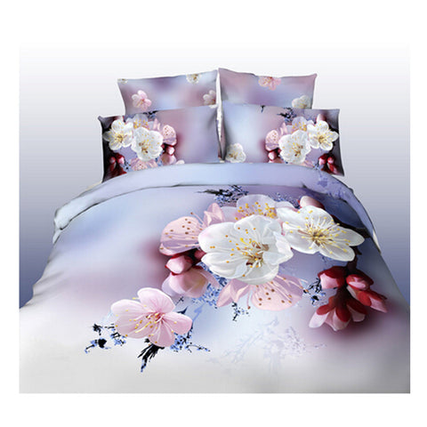 3D Queen King Size Bed Quilt/Duvet Sheet Cover Cotton reactive printing 4pcs  15 - Mega Save Wholesale & Retail