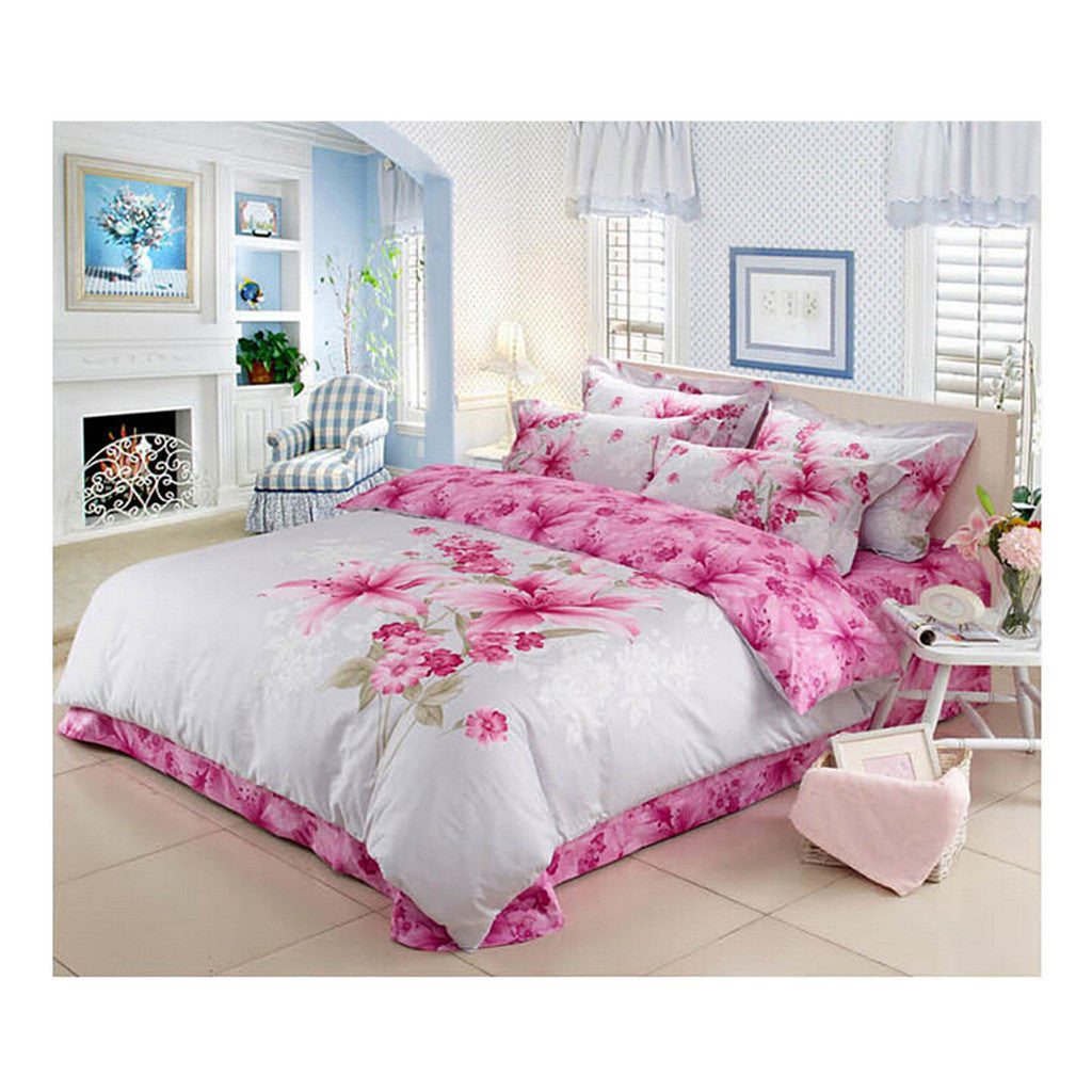 Cotton Active floral printing Quilt Duvet Sheet Cover Sets  Size 02 - Mega Save Wholesale & Retail