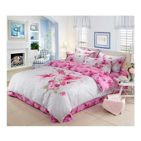 Cotton Active floral printing Quilt Duvet Sheet Cover Sets 1.5M/1.8M Size 02 - Mega Save Wholesale & Retail