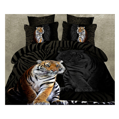 3D Queen King Size Bed Quilt/Duvet Sheet Cover Cotton reactive printing 4pcs  22 - Mega Save Wholesale & Retail