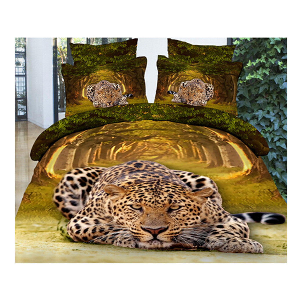 3D Queen King Size Bed Quilt/Duvet Sheet Cover Cotton reactive printing 4pcs  23 - Mega Save Wholesale & Retail