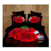 3D Queen King Size Bed Quilt/Duvet Sheet Cover Cotton reactive printing 4pcs  24 - Mega Save Wholesale & Retail