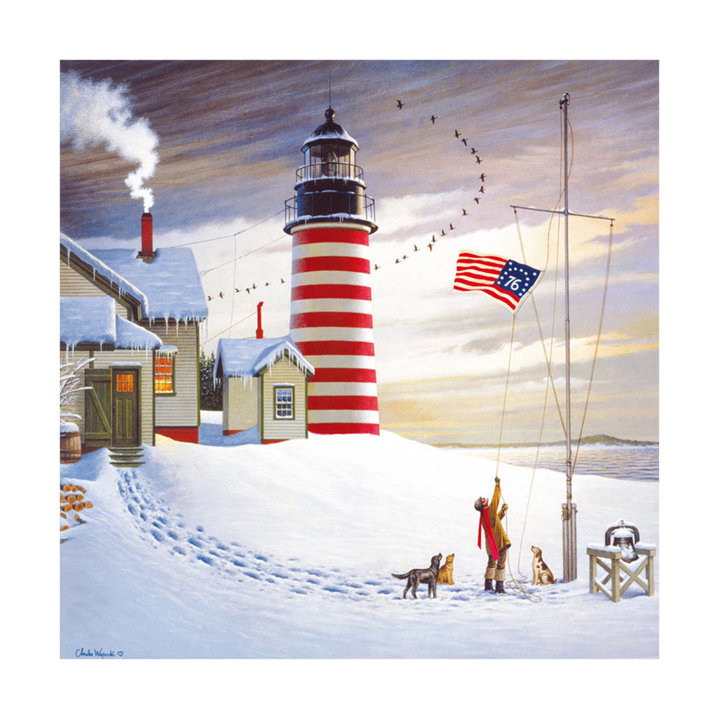 decoration painting bulk simple lighthouse American small town without frame cotton for painting wall painting 05 - Mega Save Wholesale & Retail - 1