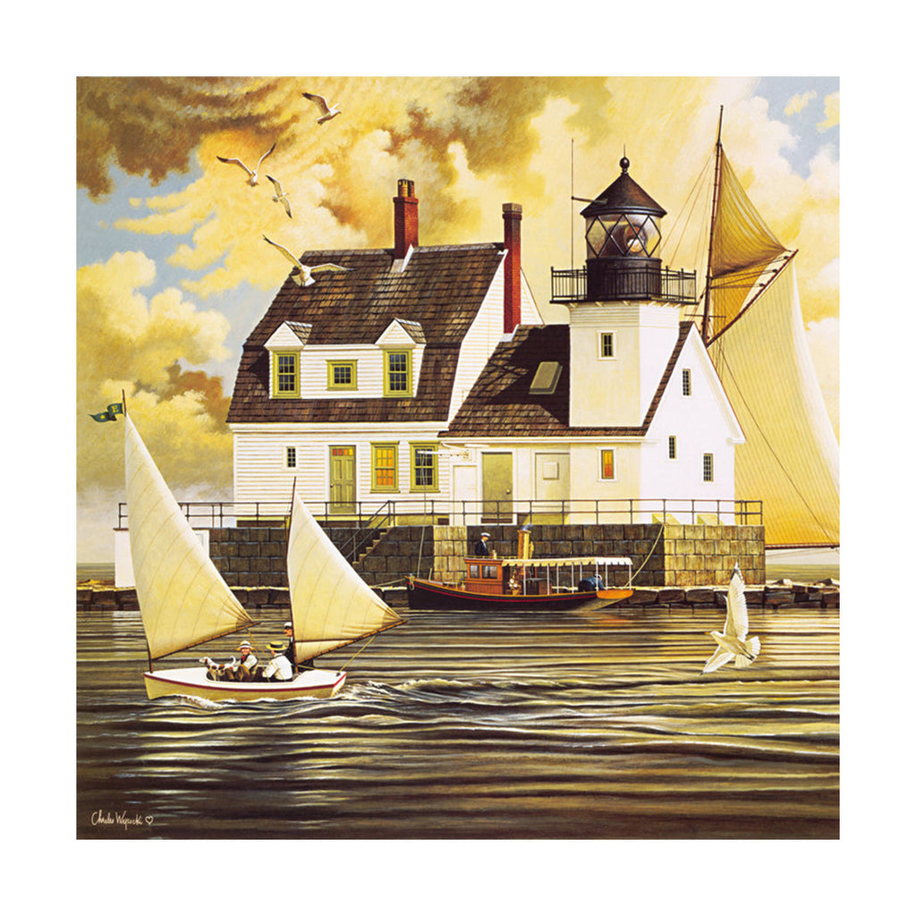 decoration painting bulk simple lighthouse American small town without frame cotton for painting wall painting 06 - Mega Save Wholesale & Retail - 1