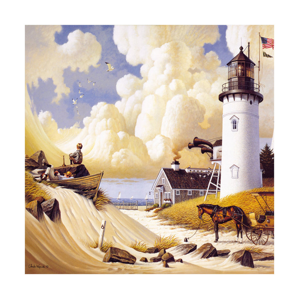 decoration painting bulk simple lighthouse American small town without frame cotton for painting wall painting 08 - Mega Save Wholesale & Retail - 1