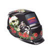 Hobart Welding Helmet with Striking Red Rose Skull Design Graphic & LCD Technology - Mega Save Wholesale & Retail
