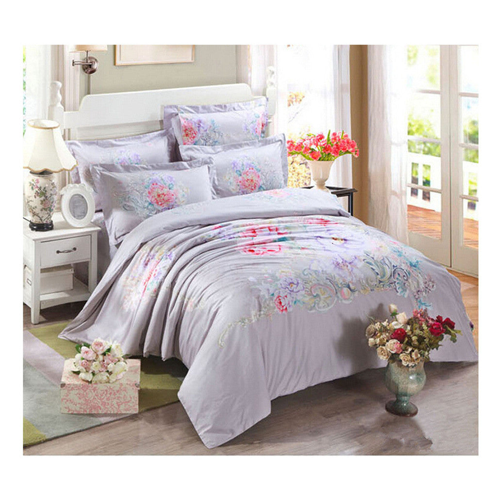 Cotton Active floral printing Quilt Duvet Sheet Cover Sets  Size 09 - Mega Save Wholesale & Retail
