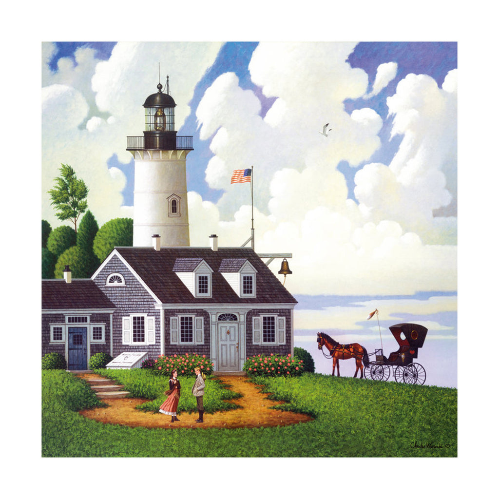 decoration painting bulk simple lighthouse American small town without frame cotton for painting wall painting 09 - Mega Save Wholesale & Retail - 1