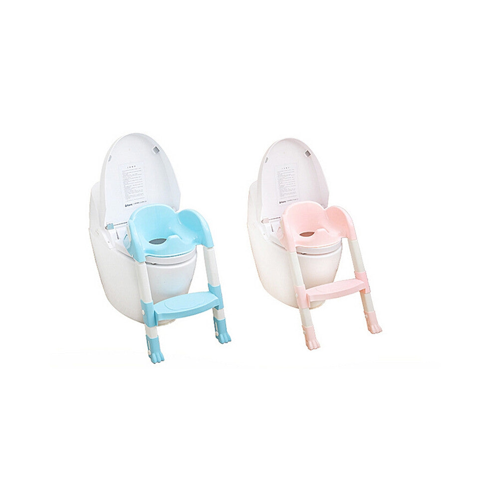 Foldable Kids Children Babies Toddlers Toilet Potty Trainer Seat With Ladder Kit   pink - Mega Save Wholesale & Retail - 3