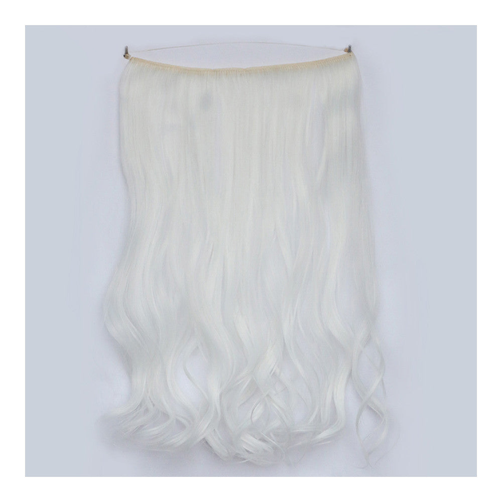 The new wig manufacturers wholesale hair extension fishing line hair extension piece piece long curly hair wig piece foreign trade explosion models in Europe and America  1001# - Mega Save Wholesale & Retail - 1