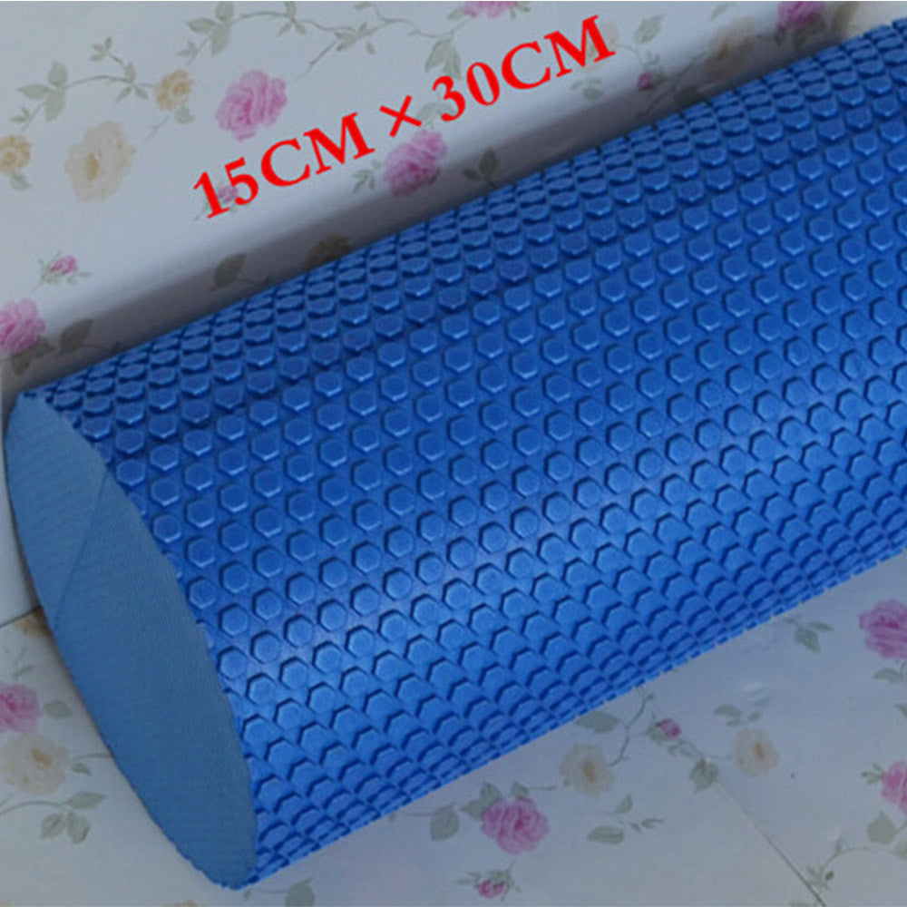 Yoga Gym Pilates EVA Soft Foam Roller Floor Exercise Fitness Trigger 30x14.5cm Purple - Mega Save Wholesale & Retail - 4