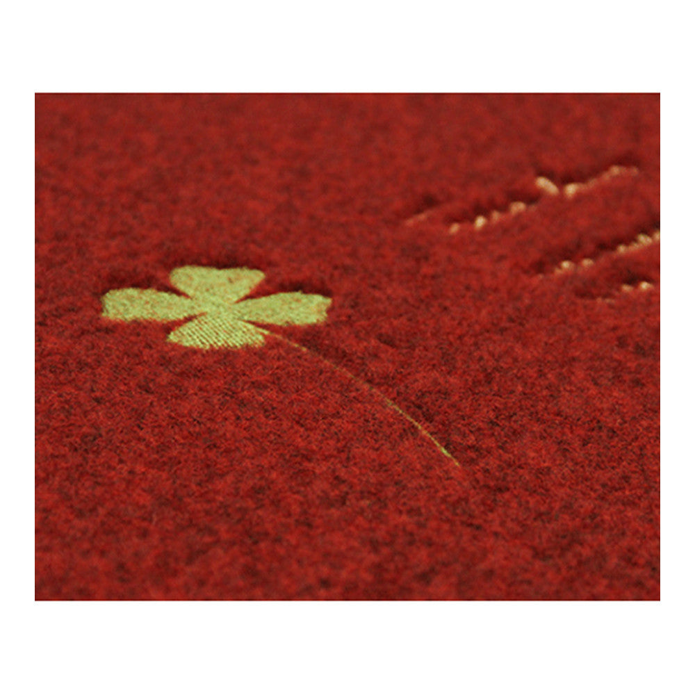 Embroidery Clover Foot Ground Floor Door Mat Carpet purple hippos - Mega Save Wholesale & Retail - 2