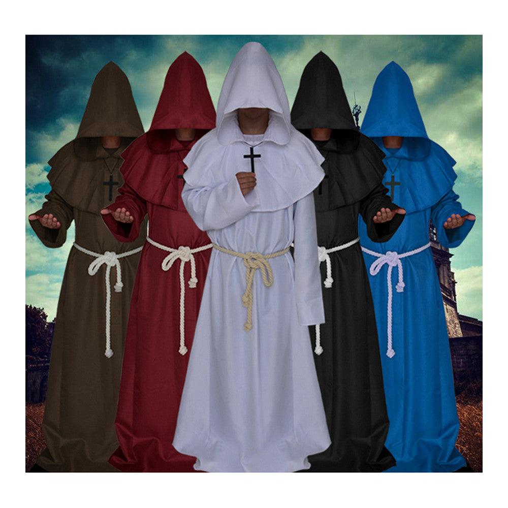 Halloween Cosplay Middle Ages Monk Wizard Christian white - Mega Save Wholesale & Retail - 2