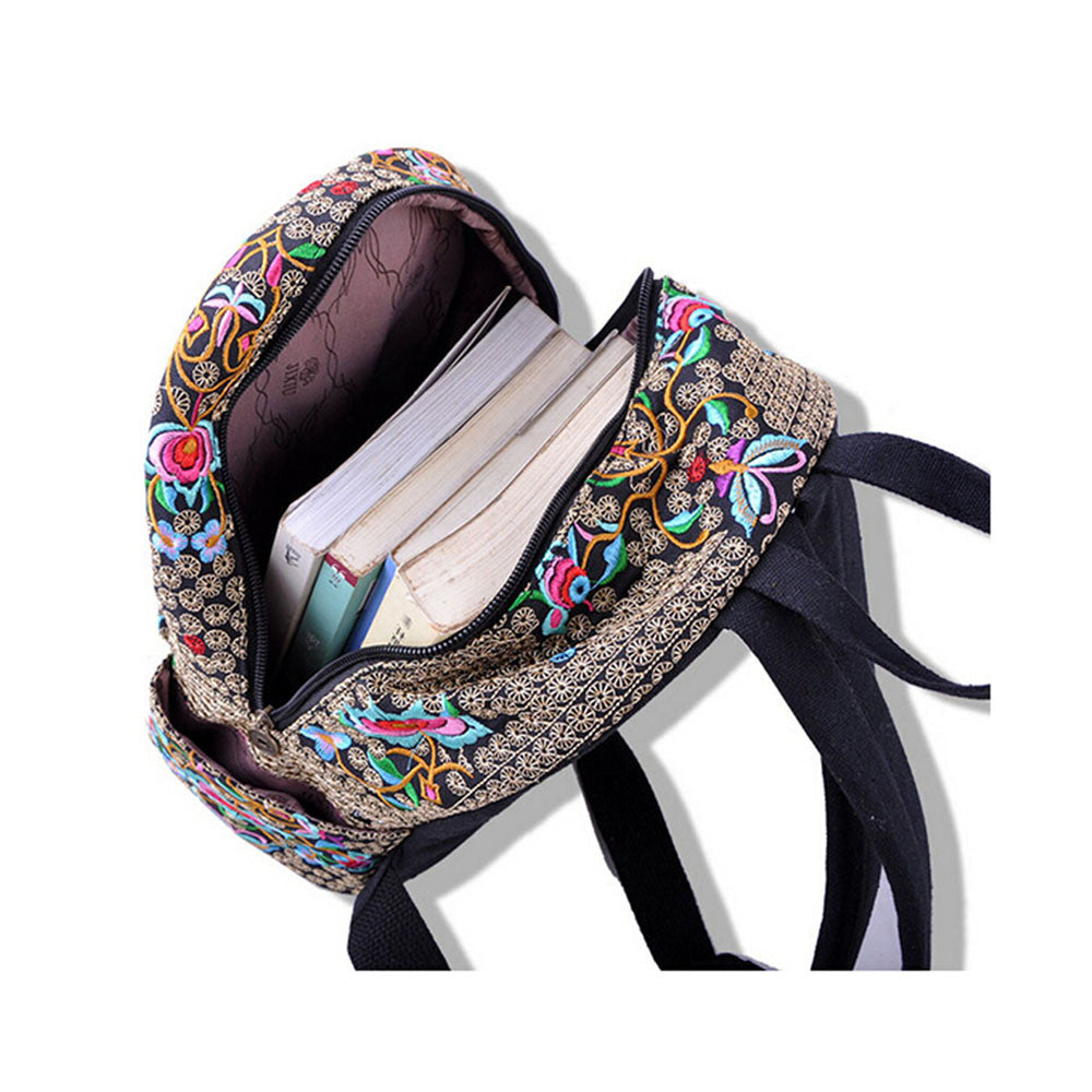 New Yunnan Fshionable National Style Embroidery Bag Stylish Featured Shoulders Bag Fshionable Woman's Bag Bulk   blue and white flower - Mega Save Wholesale & Retail - 3