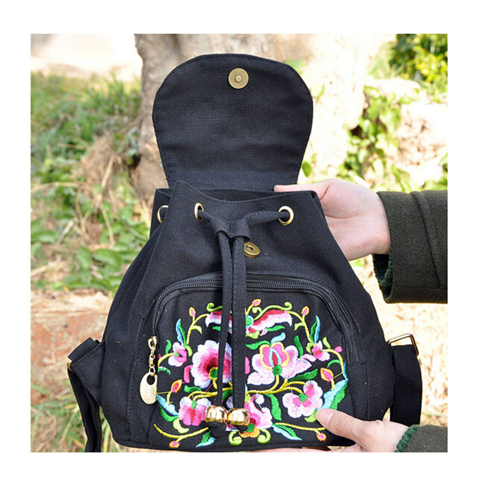 New Yunnan Fashionable Embroidery Bag Stylish Featured Shoulders Bag Fashionable Woman's Bag Bulk 93012   black - Mega Save Wholesale & Retail - 2