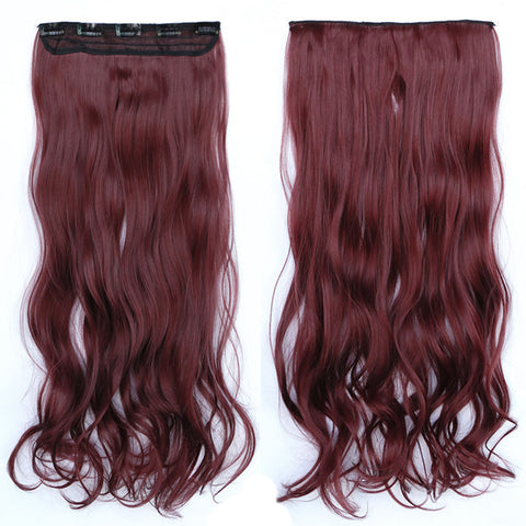 120g One Piece 5 Cards Hair Extension Wig     118