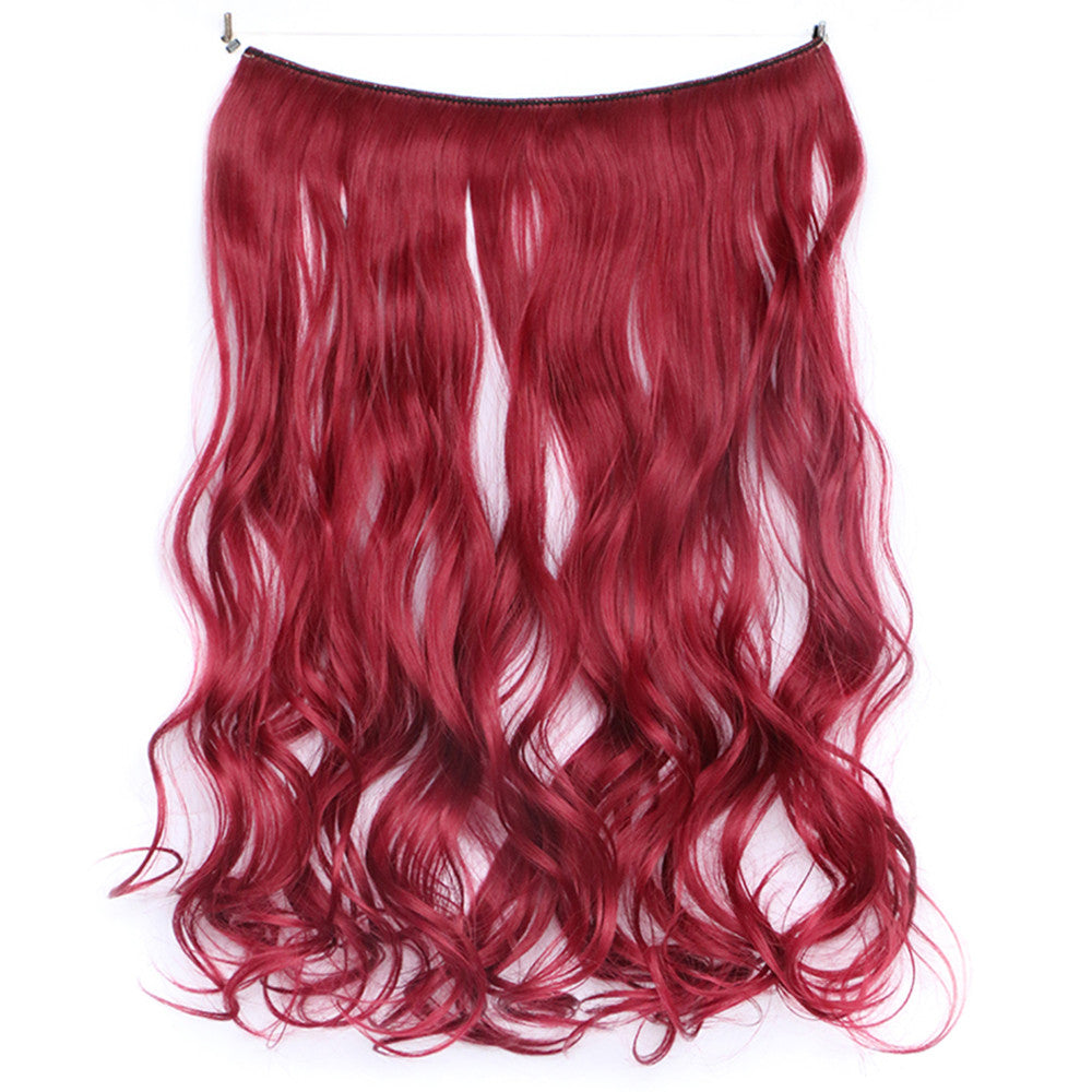 The new wig manufacturers wholesale hair extension fishing line hair extension piece piece long curly hair wig piece foreign trade explosion models in Europe and America  118C - Mega Save Wholesale & Retail - 1