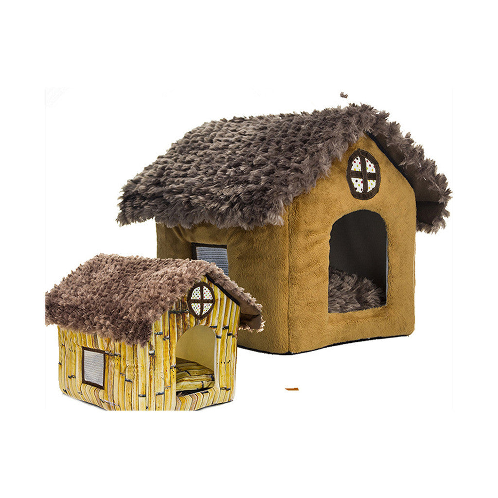 Fall Winter Teddy kennel pet kennel washable cottages Pomeranian Bichon small dog kennel dog house    cottages - Mega Save Wholesale & Retail - 3
