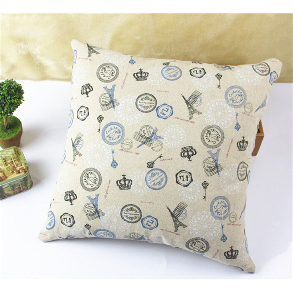 British Printed cotton  pillow cover cushion cover  11 - Mega Save Wholesale & Retail