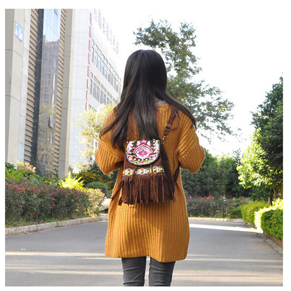 Yunnan Fashionable National Style Ebroidery Bag Stylish Featured Shoulders Bag Fashionable Bag    black - Mega Save Wholesale & Retail - 2