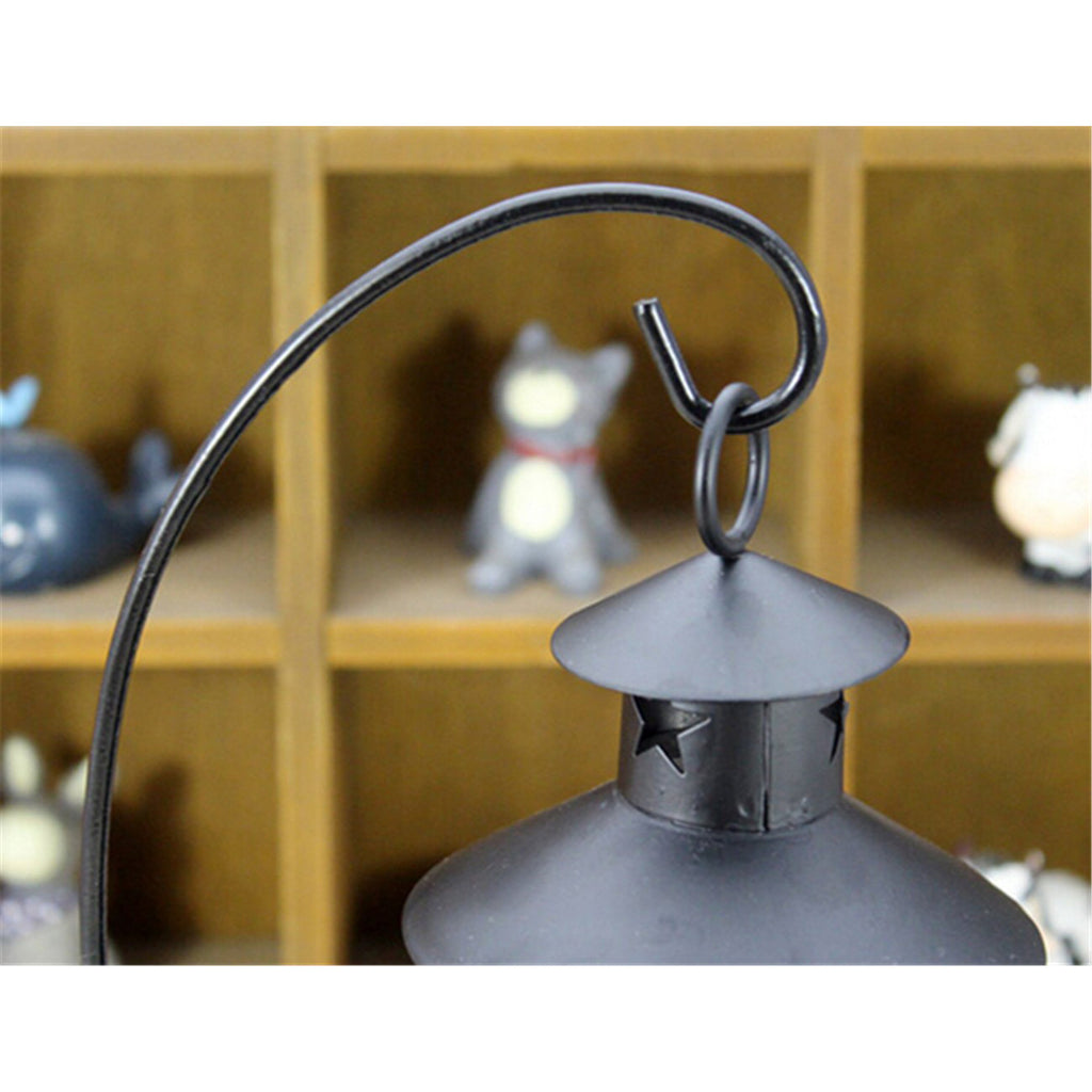 Retro Hollowed Out Iron Art Candle Holder Black - Mega Save Wholesale & Retail - 2