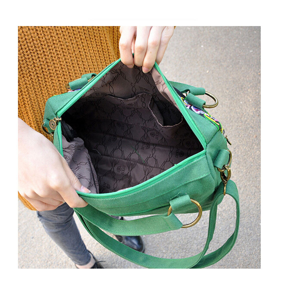 New National Style Embroidery Woman's Single-shoulder Bag Handbag Chinese Style Messenger Bag   green - Mega Save Wholesale & Retail - 2