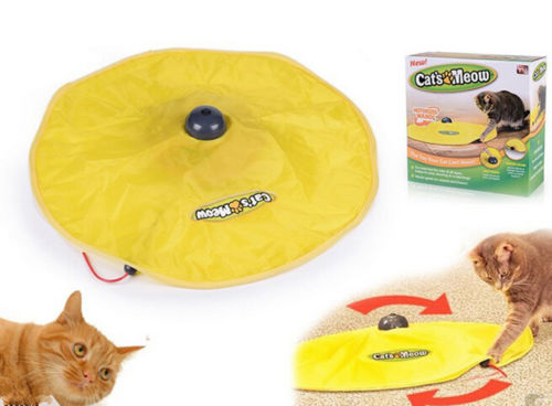 NEW Cat Meow Toy Undercover Mouse Fabric Moving Electronic Fun Kitten Pet Toys